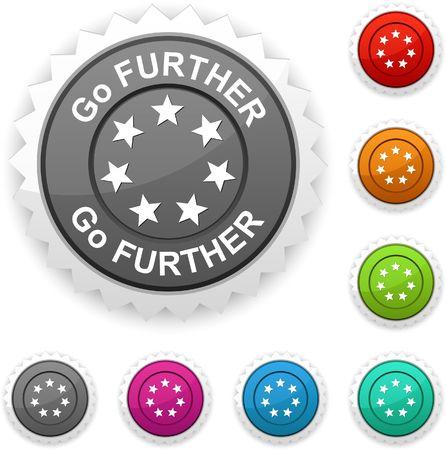further: Go further  award button.