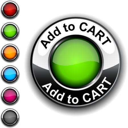 chrome cart: Add to cart realistic button.