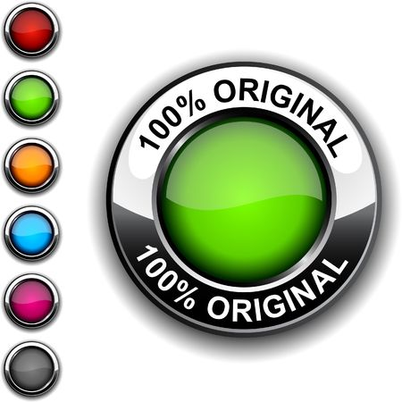 original design:  100% original realistic button. Illustration