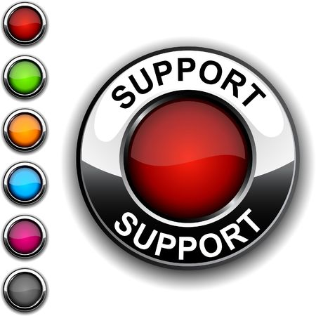 Support realistic button.  Stock Vector - 6766442