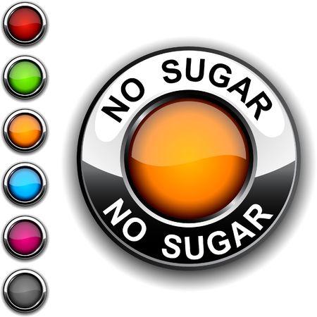 No sugar realistic button.