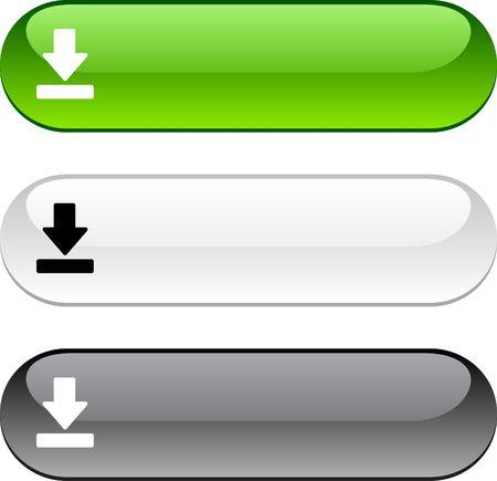 knop: Download glanzende knoppen. Drie kleur versie.