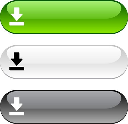 push button: Download glossy buttons. Three color version.