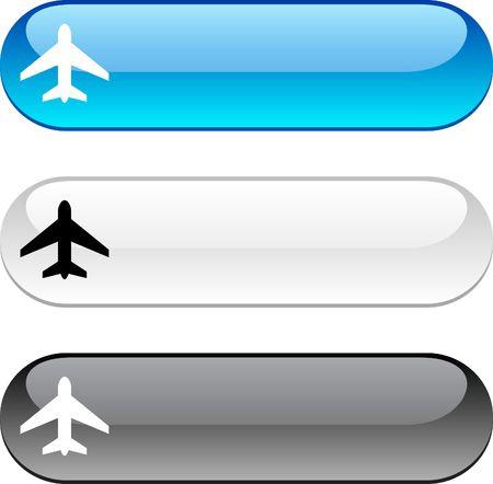 버전: Aircraft glossy buttons. Three color version.