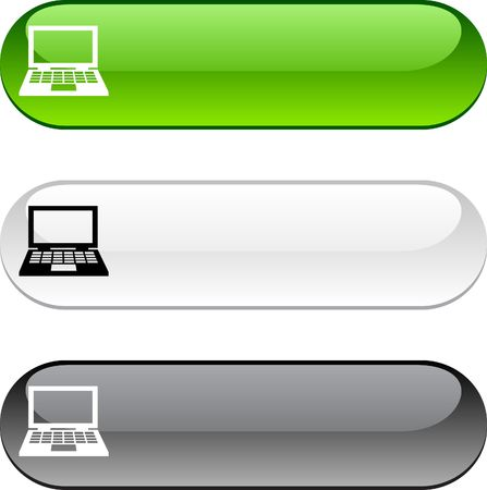 web push: Notebook glossy buttons. Three color version.