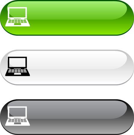 버전: Notebook glossy buttons. Three color version.