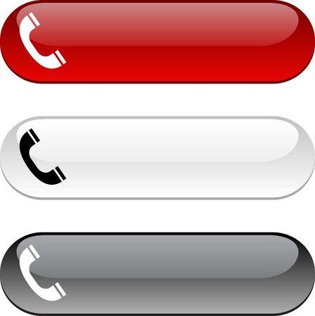 Telefono lucidi pulsanti. Versione a tre colori.
