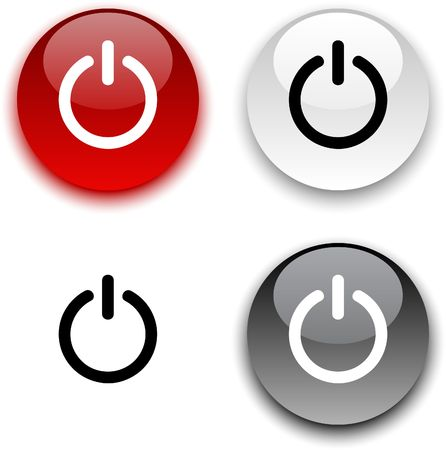 Switch glossy round buttons.