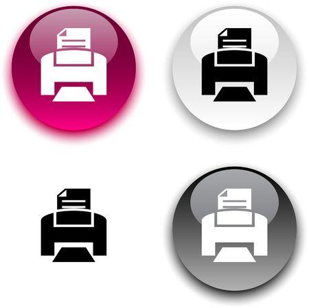 estampado: Imprimir brillante botones redondos.