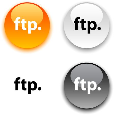 ftp: FTP glossy round buttons.