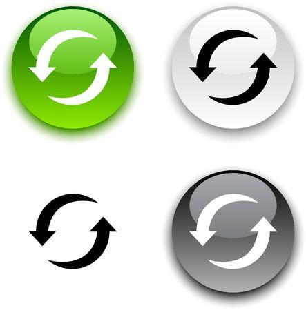 refrescarse: Actualizar brillante botones redondos.