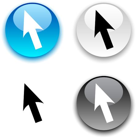 Cursor glossy round  buttons. Stock Vector - 6811666