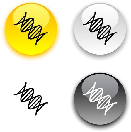 DNA glossy round buttons. Stock Vector - 6820848