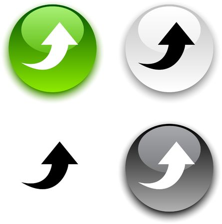 Upload glossy round buttons.