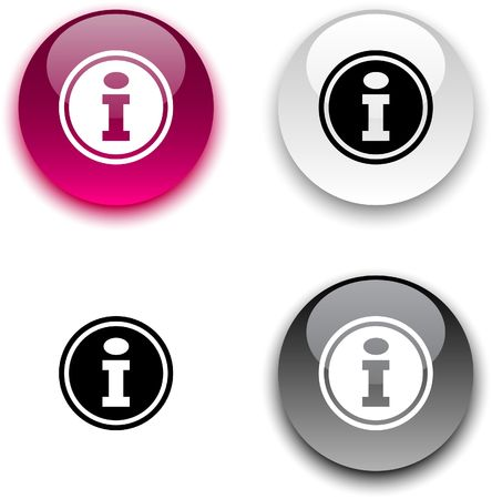 info button: Info glossy round buttons.
