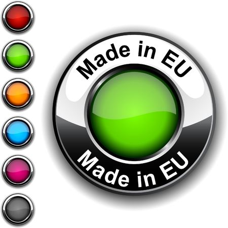 eu: Made in EU realistic button.