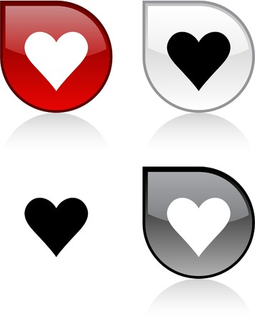 Love glossy drop vibrant buttons.  Stock Vector - 6847585