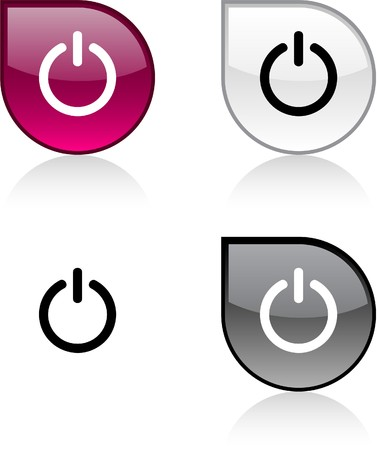 Switch glossy drop vibrant buttons. Stock Vector - 6847612
