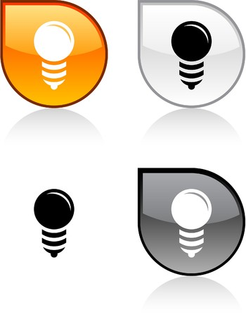 light shadow: Bulb glossy drop vibrant buttons.