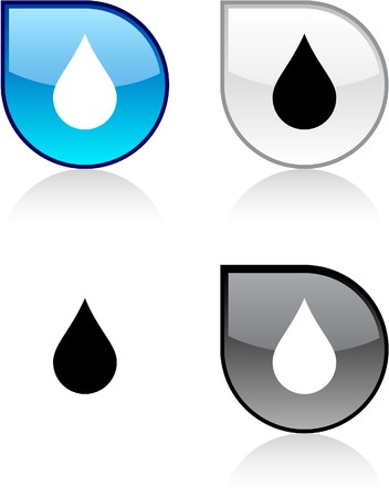 drop shadow: Rain glossy drop vibrant buttons.