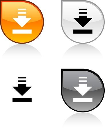 Download glossy drop levendige knoppen.
