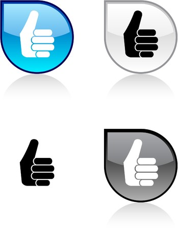 Good glossy drop vibrant buttons.  Stock Vector - 6932950
