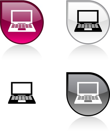 Notebook glossy drop vibrant buttons. Stock Vector - 6932948