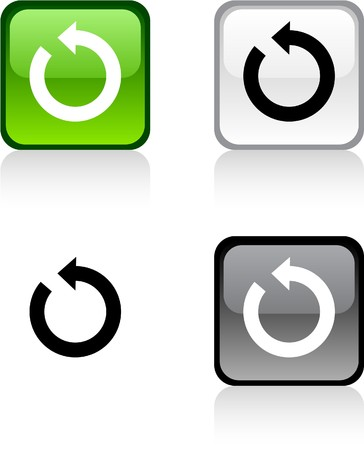 Actualizar los botones cuadrados vibrantes brillantes.