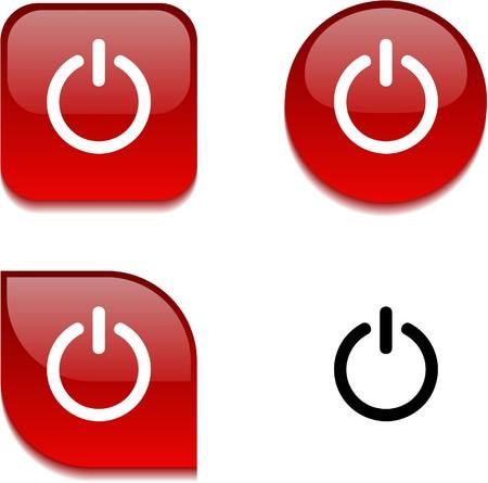 interruttore: Passare i pulsanti web vibrante lucido.  Vettoriali