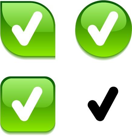 accepter: V�rifiez les boutons web dynamique brillant.