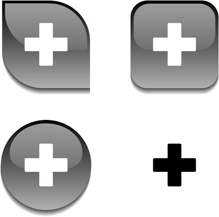 Switzerland glossy vibrant web buttons.  Vector