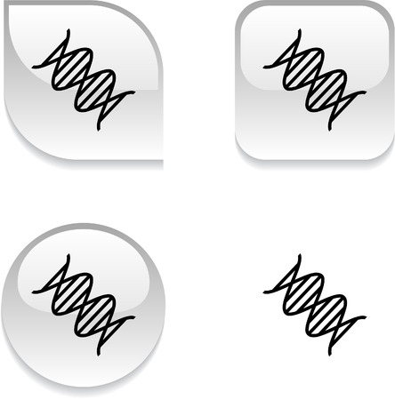 DNA glossy vibrant web buttons.  Stock Vector - 7045931