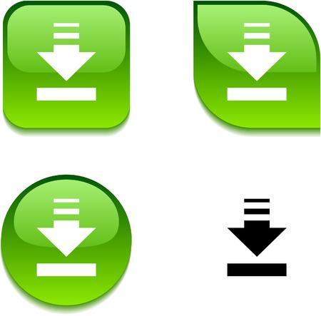 Download glossy levendige web knoppen.