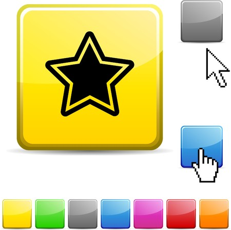 Star glossy vibrant web icon.  Stock Vector - 7099311