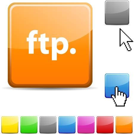 FTP glossy vibrant web icon.