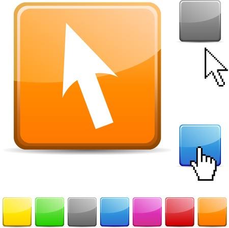 Cursor glossy vibrant web icon.  Stock Vector - 7107687
