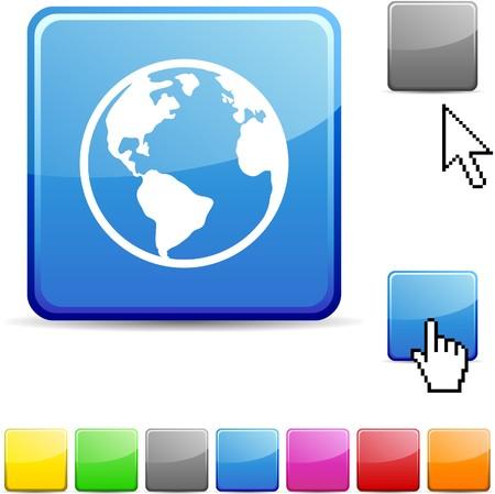 Planet glossy vibrant web icon.  Stock Vector - 7107693
