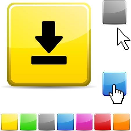 Download glossy vibrant web icon. Stock Vector - 7107657