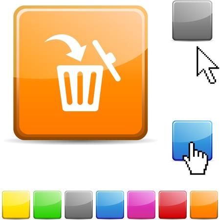delete: Delete glossy vibrant web icon.