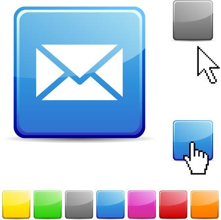 e-Mail glossy lebendige Web-Symbol.