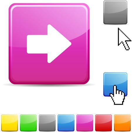 Arrow glossy vibrant web icon. Stock Vector - 7107705