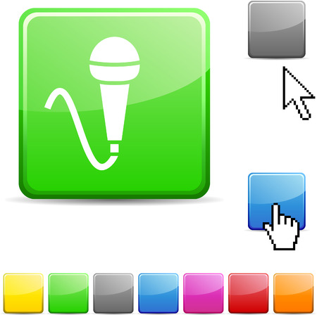 cursors: Mic glossy vibrant web icon.
