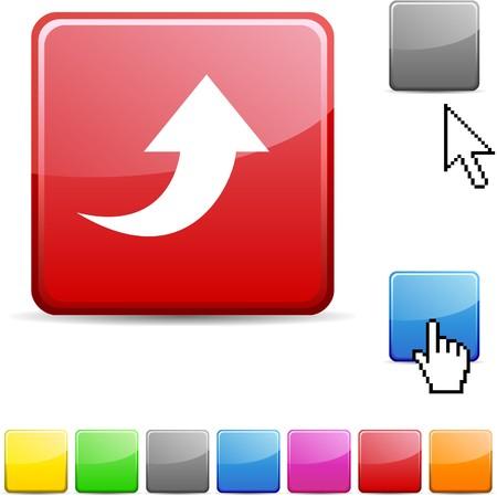 Upload glossy vibrant web icon. Stock Vector - 7114736