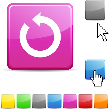 Refresh glossy vibrant web icon. Stock Vector - 7114740