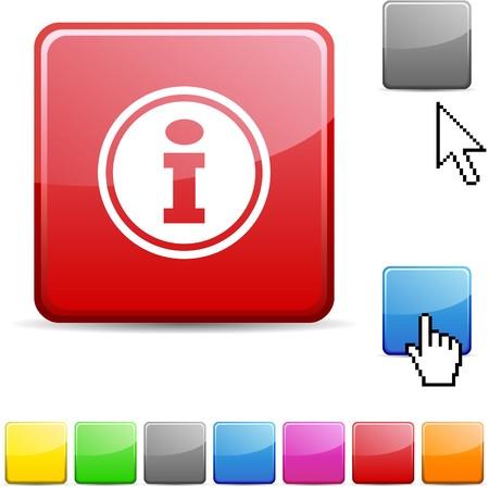 Info glossy vibrant web icon.  Stock Vector - 7114743