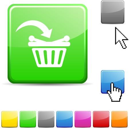 Buy glossy vibrant web icon. Stock Vector - 7114748