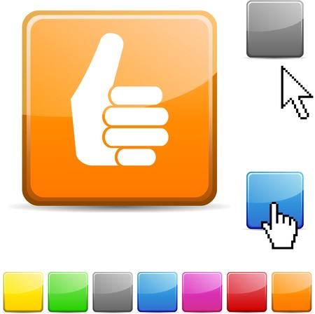Good glossy vibrant web icon.  Stock Vector - 7114744
