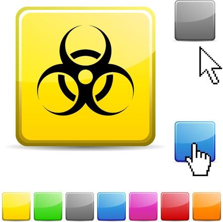 Virus glossy vibrant web icon. Stock Vector - 7123794