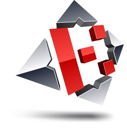 Illustration of K 3d design element.  Stock Vector - 7123732