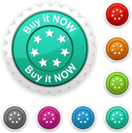 Buy it now award button. Vector